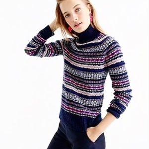 J.Crew Fair Isle turtleneck sweater 100% Wool Med.